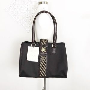 NWT DVF Extra Large Brown Open Tote Travel Bag XL